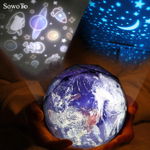 Space travel Projection LED Night Light Planet Magic Projector Universe Lamp Music Rotary Starry Sky Projector Baby Sleep Lamps(China)