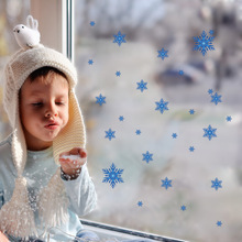 Christmas Wall Stickers Beautiful Snowflakes removable window vinyl stickers Christmas Decoration Home Decor