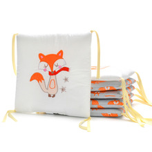 Buy Baby Bed Bumper Set 6pcs Fox Elephant Baby Knotted Crib Bumper Pads Bedding Cushion Baby Pillow Cot Newborn Protector Around for $18.79 in AliExpress store