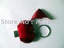 Free shipping: Heart shape USB flash drive with keychain flash pendrive popular gift memory card