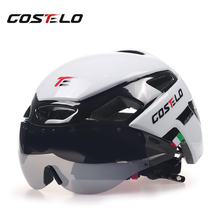 2017 Costelo Cycling Light Helmet MTB Road Bike Helmet Bicycle Helmet Speed Airo RS Ciclismo Goggles Safe Men Women 230g(China)