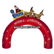 3.5m*3m Christmas Inflatable Santa Claus Arch with Bell for Outdoor Entrance Decoration(China)