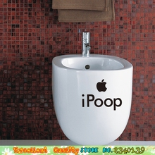 Hot Sale IPoop Toilet Sticker Mordern Home Mural Art Furniture Wardrobe Cupboard Decoration Decals Vinyl Wallpaper Wall Stickers