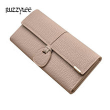 New Design Leather Wallets Women Luxury Brand Purses Woman Wallet Long Hasp Female Purse Card Holder Clutch Feminina Carteira(China)