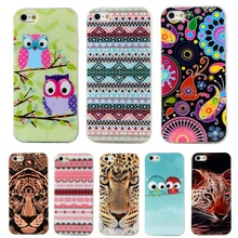 "4S Fashion Owl Tower Cartoon TPU Soft Case For Apple iphone 4 4S 3.5"" For iphone4 Mobile Cell Phone ShockProof Back Skin Cover"
