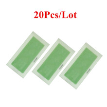 20pcs=10sheets Hair Removal Double Side Cold Wax Strips Paper For Leg Body Facial Hair
