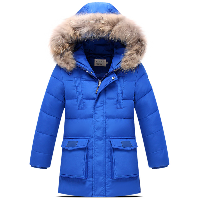 2017 New Childrens down jackets outerwear Fashion fur Boy winter duck down Coats thick duck feather Warm Kid jackets<br>