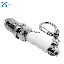 For Mitsubishi Peugeot Hot Sell Spark Plugs Keyring Turbo Key Chain Key Ring Creative Car Accessories Keychain Car Parts Gifts(China)