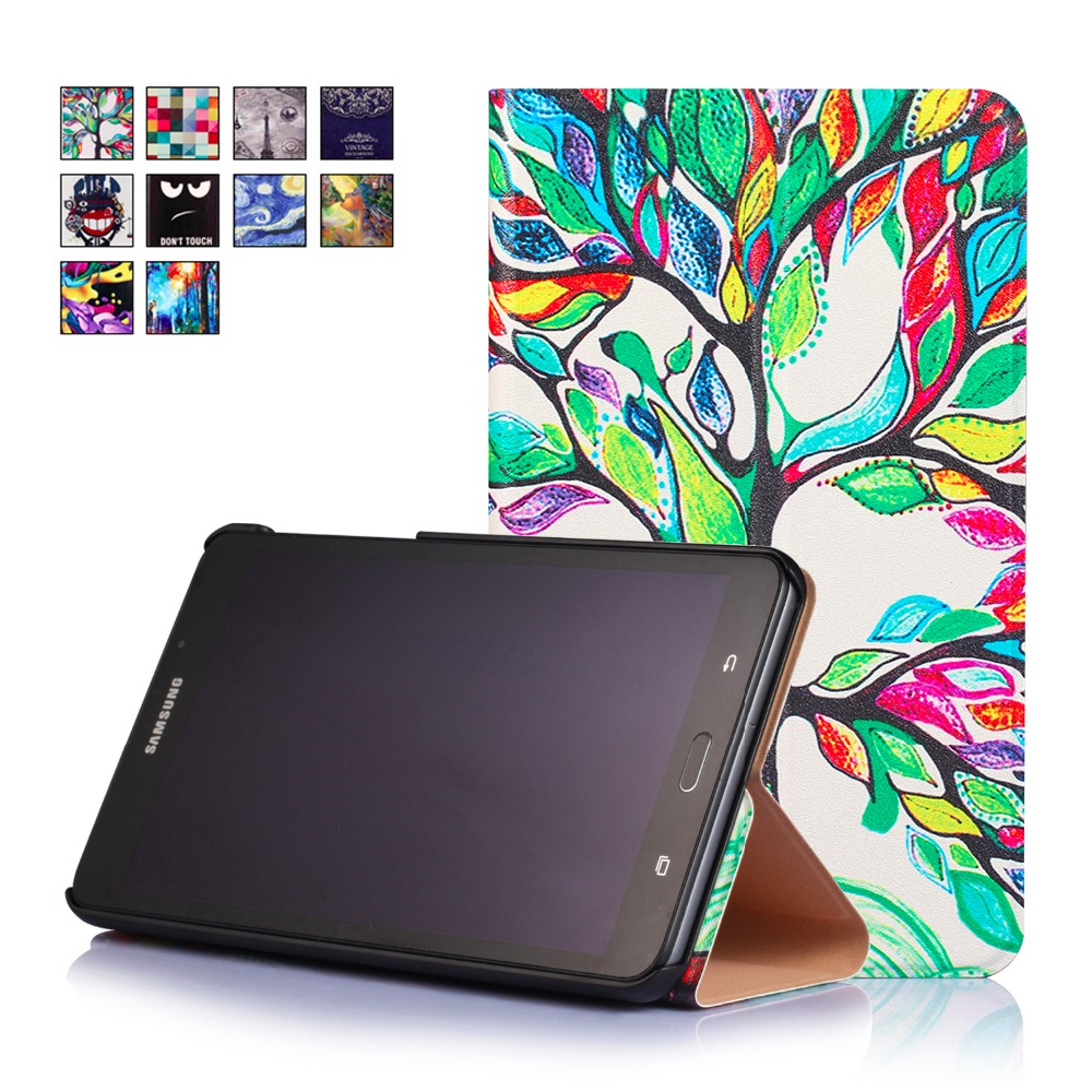 2017 Hot Unique Painting Slim Case For Samsung Galaxy Tab A A6 7.0 T280 T285 Cover Magnet PU Leather Book Stand Protective Shell<br><br>Aliexpress