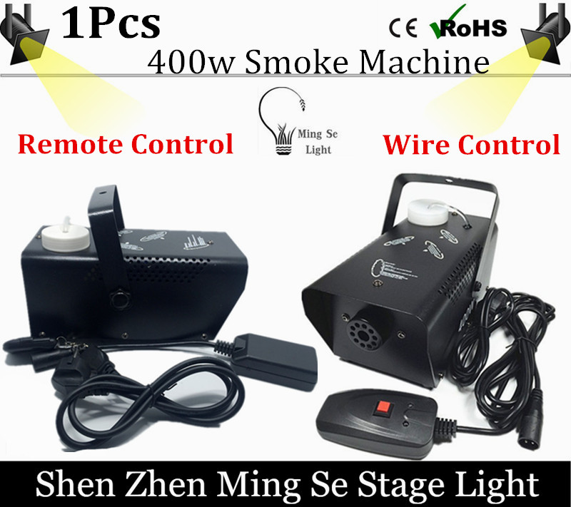 2017 new  fog machine remote control or  wire control Mini 400W smoke machine professional DJ lighting equipment light effects<br><br>Aliexpress