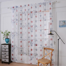 2017 Curtains Retro Stamp Designs Curtains For Living Room Curtains For Bedroom Kitchen Linen&Cotton Fabric Curtain 145 * 180cm