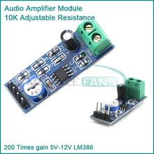 200 Times gain 5V-12V LM386 Audio Amplifier Module 10K Adjustable Resistance