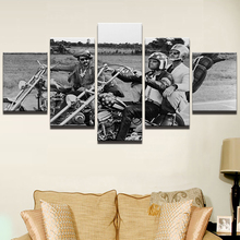 Modern Wall Art Painting HD Printed On Canvas Home Decor Pictures 5 Panel Frame Motorcycle Cowboy Movie Characters Poster PENGDA