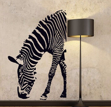 9030 Removable Vinyl Zebra Wall Stickers for Kids Room/ Mural Home Decor House Sticker on the Wall Room Sticker Free Shipping