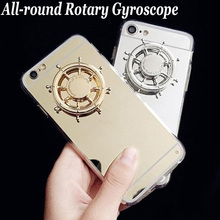 LOVECOM New For iPhone 4 4S 5 5S SE 6 6S Plus 7 7Plus DIY All-round Rotary Decompression Gyroscope Soft TPU Mirror Phone Cases(China)