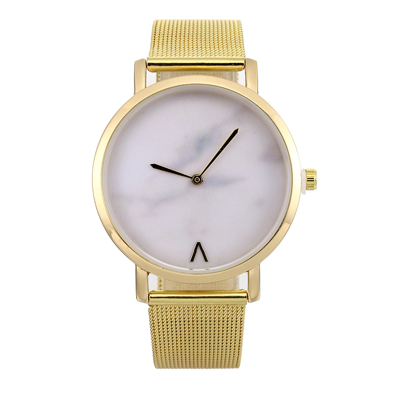hot fashion womens watches creative marble pattern dial quartz wrist watches free shipping (1)