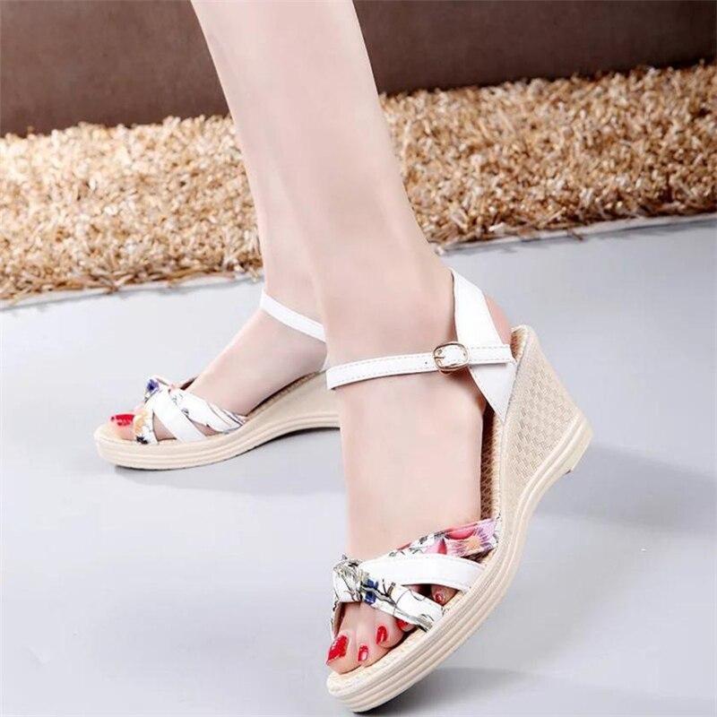 Ladies Women Wedges Shoes Summer Sandals Platform Toe High-Heeled Shoes O0530#301