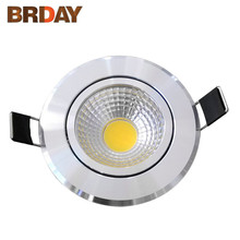 Dimmable LED COB Downlight AC110V 220V 5W/7W/9W/12W Recessed LED Spot Light Decoration Ceiling Lamp(China)