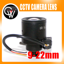 5pcs/lot 9-22mm Auto Iris lens M12 Varifocal Infra Red CCTV Camera Zoom Board cctv lens For CCTV Camera