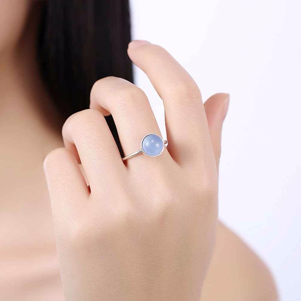 خاتم فضة بحجر ازرق 5