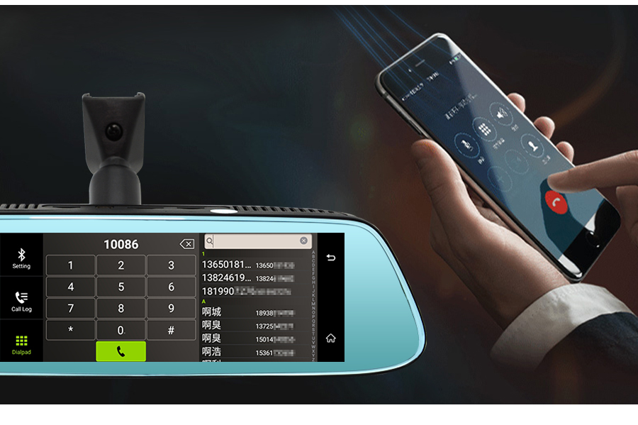 """Junsun 8"""" 4G Newest Mirror Car DVR Camera Android 5.1 with GPS DVRs Automobile Video Recorder Rearview Mirror Camera Dash Cam 26"""