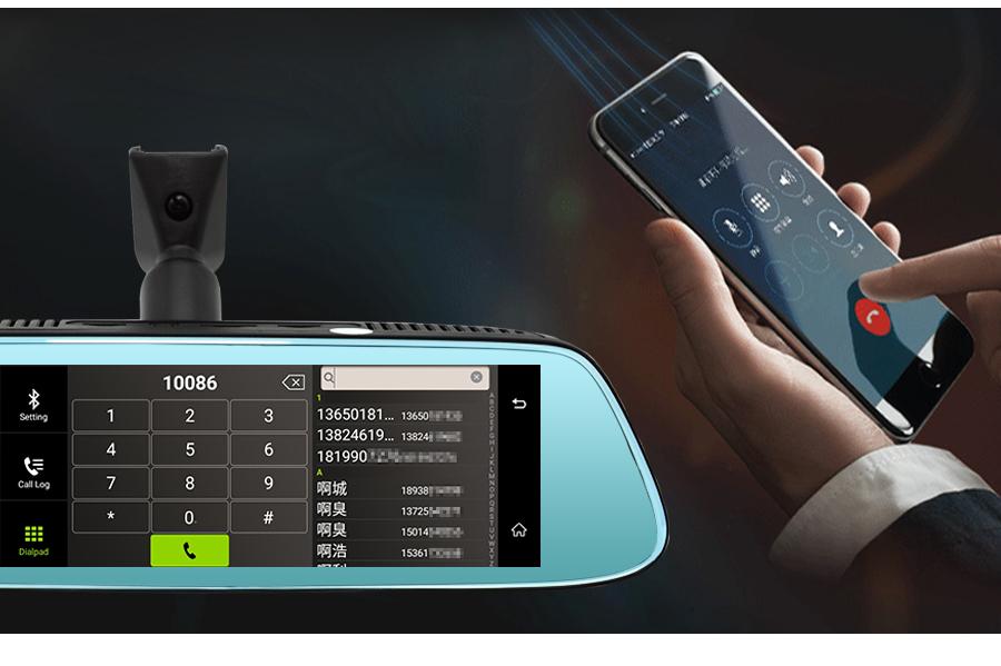"Junsun 8"" 4G Special Mirror Car DVR Camera Android 5.1 with GPS DVRs Automobile Video Recorder Rearview Mirror Camera Dash Cam 26"