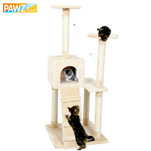 Pawz Road Fast Delivery H129 Cat Climbing Tree Cat Fun Scratching Solid Wood Cats Climb Frame Good Quality Pet Supplies 3 Colors