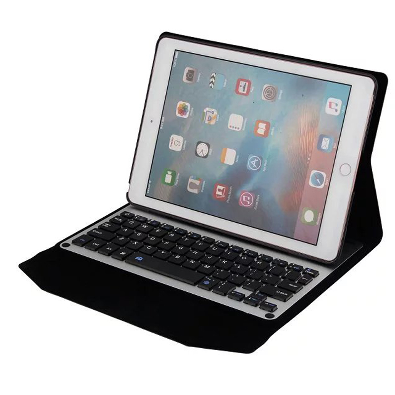For Ipad 9.7 keyboard case, Ultra-Slim Aluminum panel wireless Bluetooth Keyboard tablet cases cover for iPad 9.7 2017<br>