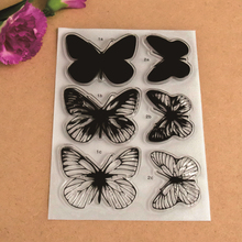 New Scrapbook DIY Photo Album Cards Transparent Acrylic Silicone Rubber Clear Stamps Sheet Butterfly
