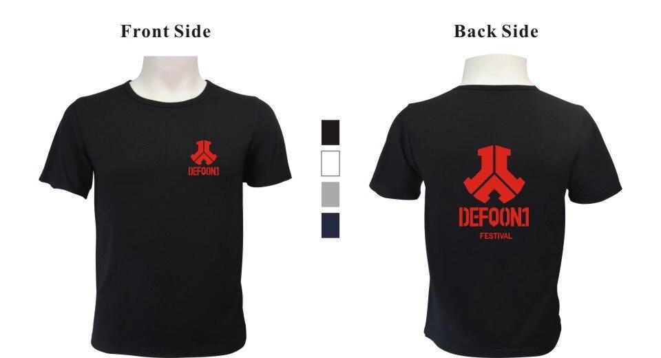 Wangcangli Defqon.1 2017 New Style Summer Music Festival T-shirt With Short Sleeve Trends Logo Men/Women Kpop XXXXL Plus Size
