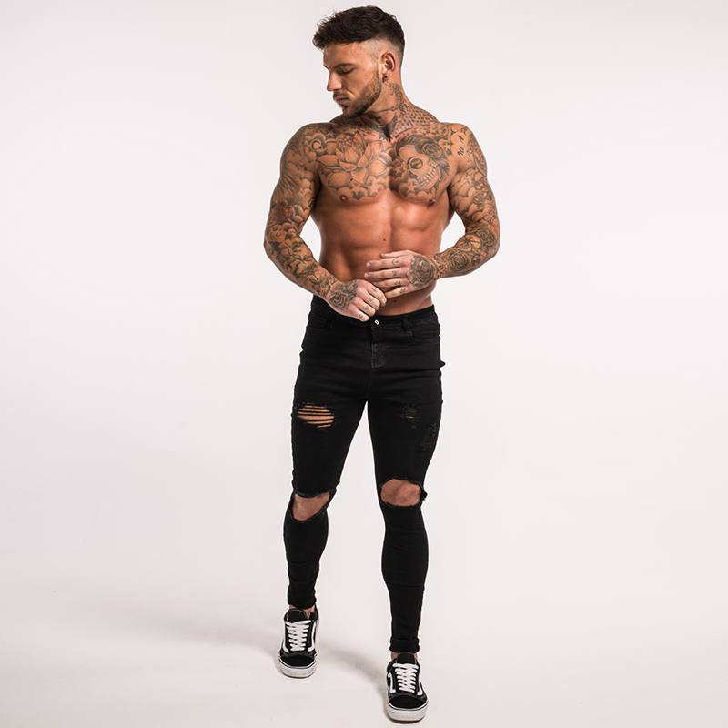 -mens-skinny-jeans-black-ripped-stretch-ripped-repaired-zm25-9
