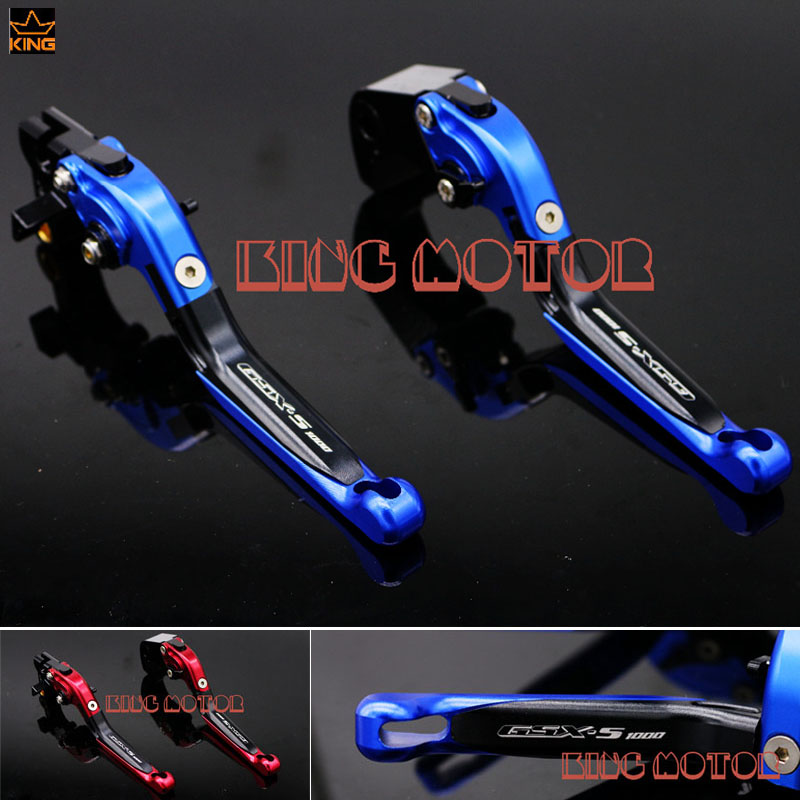 For SUZUKI GSX-S1000F GSX-S1000 2015-2016 Motorcycle Accessories Adjustable Folding Extendable Brake Clutch Levers Blue<br>