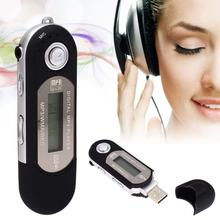 Protable mini USB mp3 music player With Screen Mini Clip Digital Mp3 Player with Radio FM USb MP3 Downloading Sport 4GB card(China)