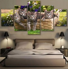 2017 Real Modern Animal Unframed No Combined Oil Spray Painting Diamond Hd Limited Edition Cats Canvas Cuadros Decoracion(China)