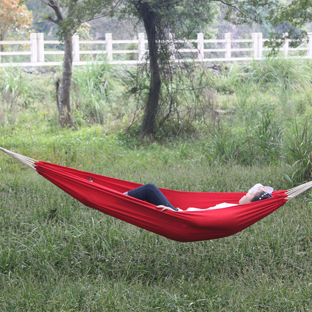 HOT Hammock With Canvas Portable Outdoor Garden Sports Home Travel Camping Swing Canvas  Stripe Hang Bed Sticker High Quality<br>