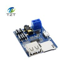 Mp3 nondestructive decoder board Built-in amplifier mp3 module mp3 decoder TF card U disk decoding player(China)