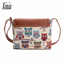 Owl Printed Women Handbag Satchel Bag Crossbody Tote Bag Shoulder Messenger Bag Good Quality best price Sacos Bags big discount