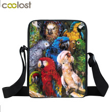 Animal Bird Parrot Owl Mini Messenger Bag Women Handbag Kids Crossbody Bag Children School Bags Boys Girls Bags Best Gift