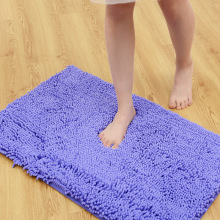 Thicker Soft Mats Deep Purple Rugs Chenille Bathroom Mats Non-slip Door Mats Waterproof Bedroom Carpet alfombras dormitorio(China)