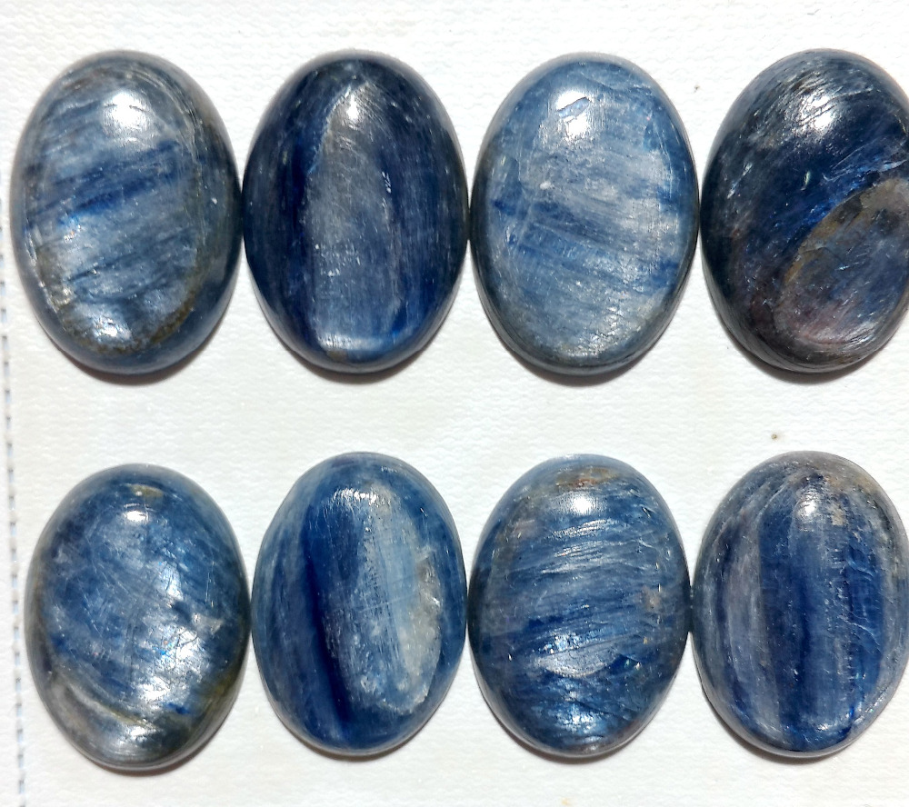 New Arrived Top Quality Natural Kyanite 18x25 mm Oval Gem Stone Cabochons Bead Ring Face CAB For Jewelry Maing 10pcs/lot