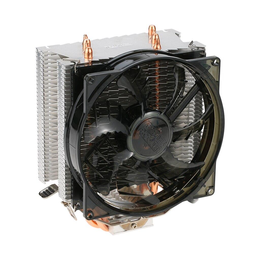 PCCOOLER 4 Heatpipes Radiator Quiet 4pin CPU Cooler Heatsink Fan Cooling with 120mm Fan for AMD 754/939/940/AM2/AM2+/AM3/FM1/FM2<br>