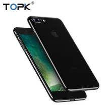 TOPK Clear Soft TPU Phone Case for iPhone 7 7 Plus , 0.8mm Thin HD Clear Crystal All-round Protection Phone Cover Case