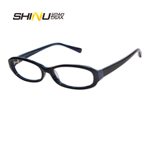 Handmade Acetate Frame Resin Lens Reading Glasses Blue Ray Prevent Diopter Glasses Comfortable Computer Goggle Eyewear S1069