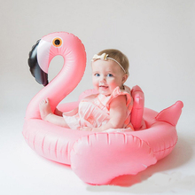 Baby Swimming Ring Dount Seat Inflatable Flamingo Swan Pool Float Baby Summer Water Fun Pool Toy Kids Swimming in the pool(China)