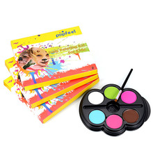 Popfeel Brand Face Painting Palette Rainbow Body Paint Color Neon UV Glowing Temporary Tattoo Schmink Makeup Pigment Halloween(China)