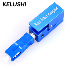 KELUSHI Free Shipping Fiber Flange Fiber Square Type SC Bare Fiber Adaptor for Telecommunication networks(China)