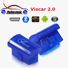 2017 Supports Multi-language Original Viecar 2.0 Super Diagnostic Tool Viecar ELM327 Bluetooth Scanner ELM 327 For Android