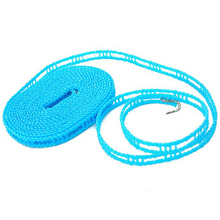 Adjustable Nylon Outdoor Anti Slip Slide Drying Dresses Clothes Hanger Clothesline Rope Line Cord String Camping Travel 1.7cm(China)