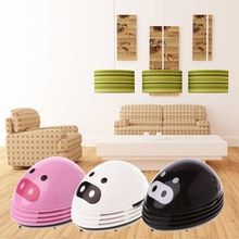 Cute Mini Cartoon Pig Corner Desk Table Home Dust Vacuum Dirt Cleaner Sweeper(China)