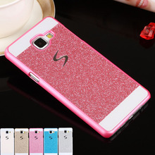 Bling shinning glitter case cubierta posterior para samsung galaxy j5 j7 primer a3 a5 a7 2016 2017 s3 s4 s5 mini borde s6 s7 s8 más